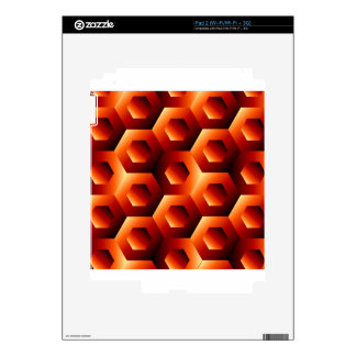 Optical illusion with hexagon decals for iPad 2