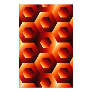 Optical illusion with hexagon stationery