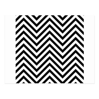 Optical illusion with lines postcard
