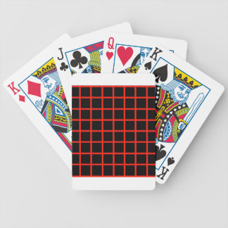 Optical illusion with maroon lines bicycle card deck