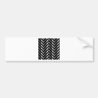 Optical illusion with metal bars and zig zag lines bumper sticker