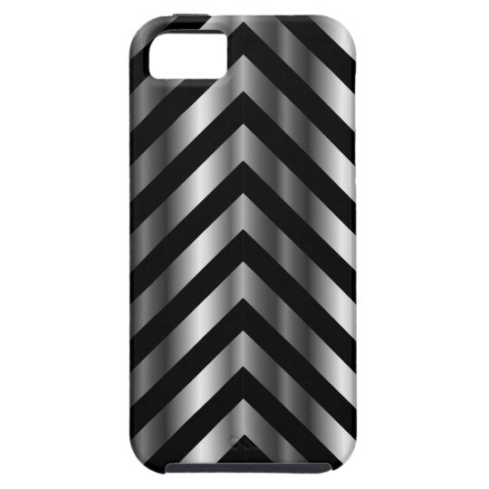 Optical illusion with metal bars and zig zag lines iPhone SE/5/5s case