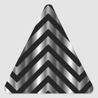 Optical illusion with metal bars and zig zag lines triangle sticker