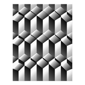 Optical illusion with steps letterhead