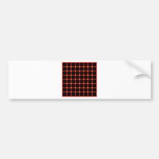 Optical illusion with yellow dots bumper sticker