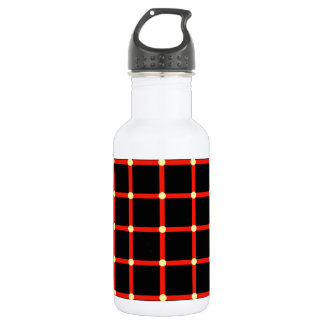 Optical illusion with yellow dots stainless steel water bottle