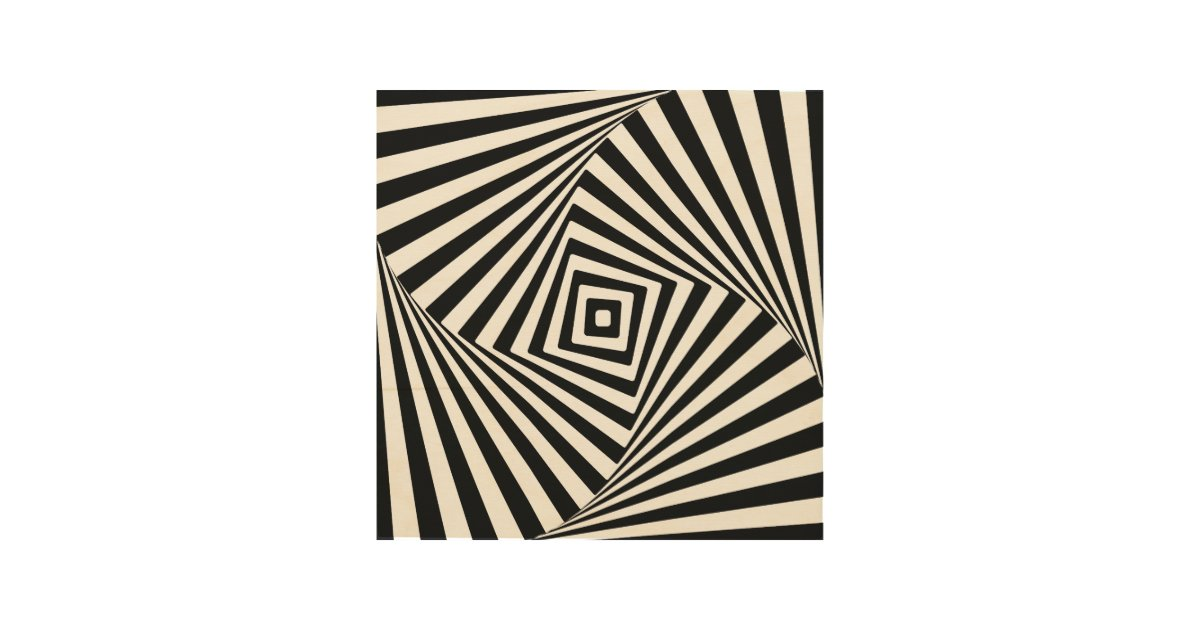 Optical Illusion Wood Wall Decor   Zazzle.com