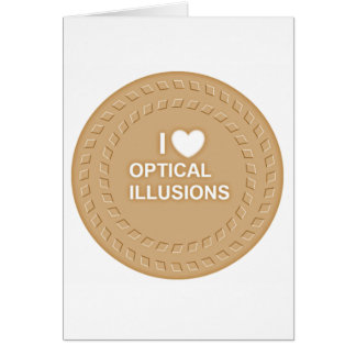 Optical Illusion! Works very well Card