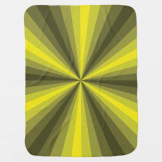 Optical Illusion Yellow Baby Blanket