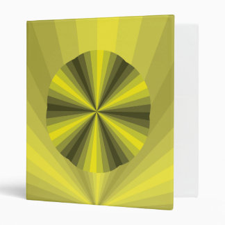 Optical Illusion Yellow Binder