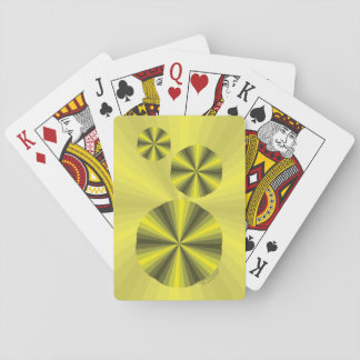 Optical Illusion Yellow Classic Playing Cards