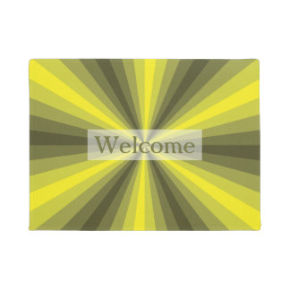 Optical Illusion Yellow Doormat