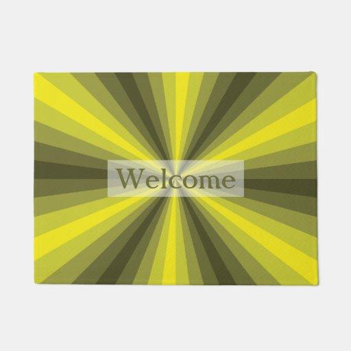 Optical Illusion Yellow Doormat Zazzle
