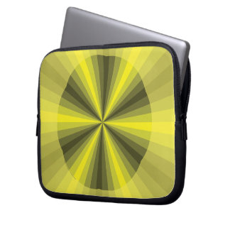 Optical Illusion Yellow Laptop Case