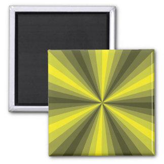 Optical Illusion Yellow Magnet