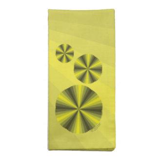 Optical Illusion Yellow Napkin