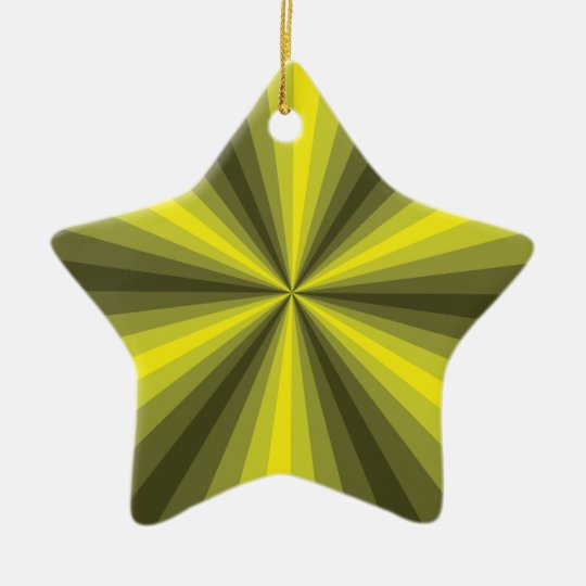 Optical Illusion Yellow Ornament