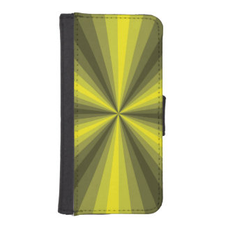 Optical Illusion Yellow Smartphone Wallet Case