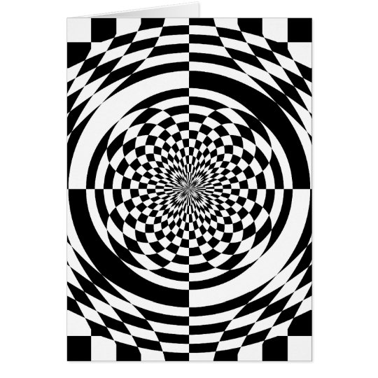 Optical illusions card