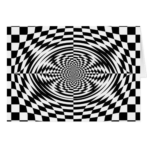 Optical illusions greeting card