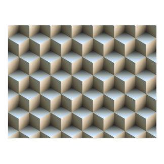 Optical illusions post card