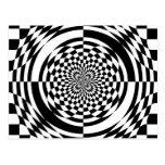 Optical illusions postcard