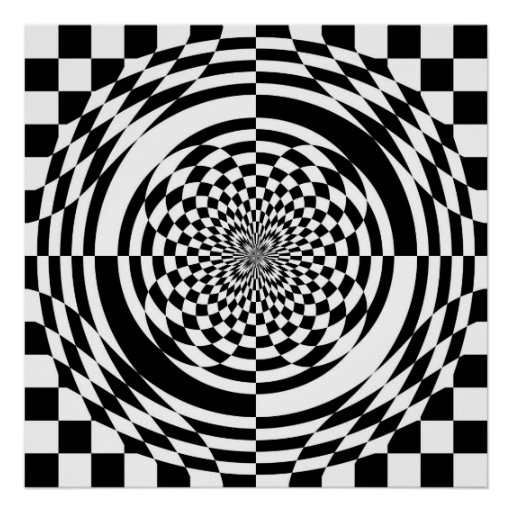 Optical illusions poster (from $11.95)