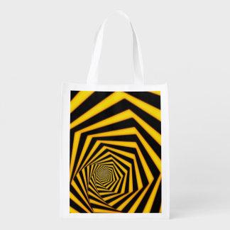 Optical Illusions Reusable Grocery Bag