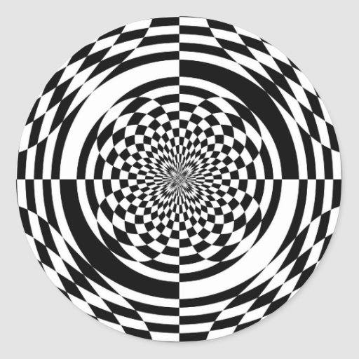 Optical illusions sticker