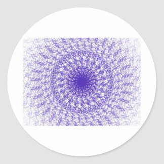 OPTICAL ILUSSION CLASSIC ROUND STICKER