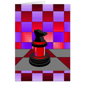 Optical Knight Chess CricketDiane 2013 Greeting Card