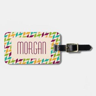 Optical leaves design bag tag
