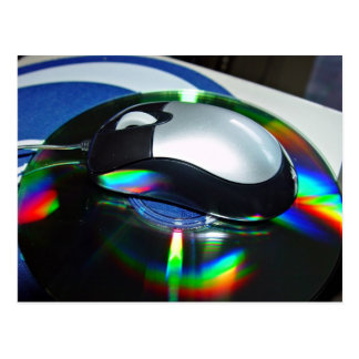 Optical mouse postcards