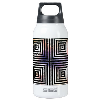 Optical Orb - Black and White Insulated Water Bottle