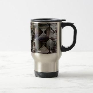 Optical Orb - Black and White Travel Mug