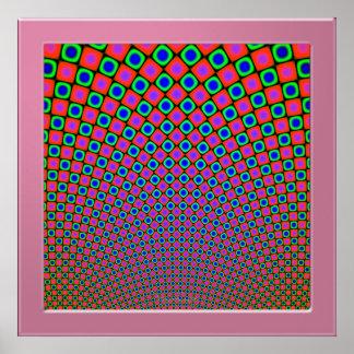 Optical Pattern Poster