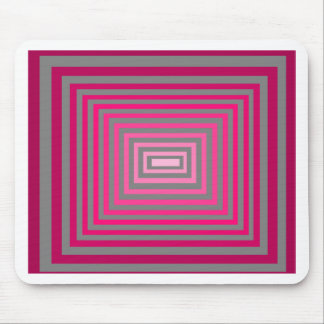 Optical Pink Purple Grey Art Illusion Mouse Pad