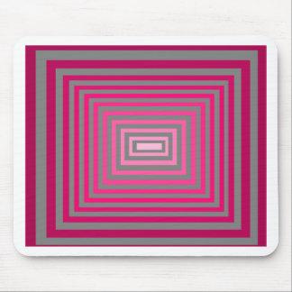 Optical Pink Purple Grey Art Illusion Mousepad