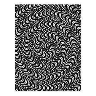 Optical Swirl Colorable Design Postcard
