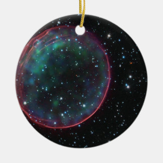 Optical X-ray Composite Image of Supernova Remnant Ornament