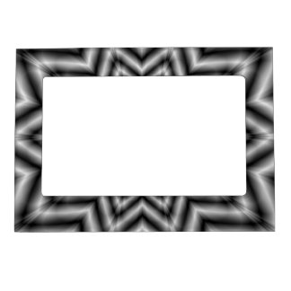 Optically Challenging Star in Black and White Magnetic Picture Frame