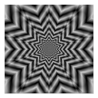 Optically Challenging Star Zazzle Perfect Poster