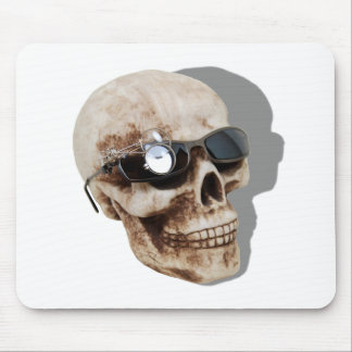 OpticalSkull042109shadows Mouse Pad
