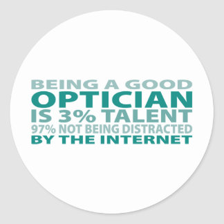 Optician 3% Talent Classic Round Sticker