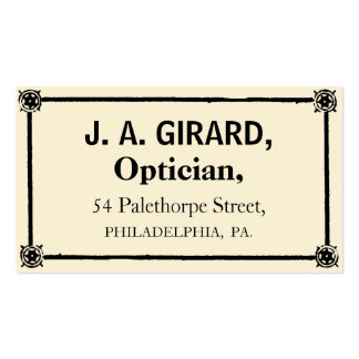 Optician Double-Sided Standard Business Cards (Pack Of 100)