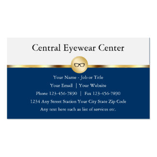 Optician Business Cards Pack Of Standard Business Cards