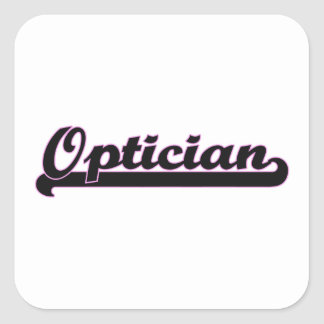 Optician Classic Job Design Square Sticker