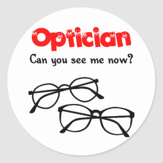 Optician Classic Round Sticker