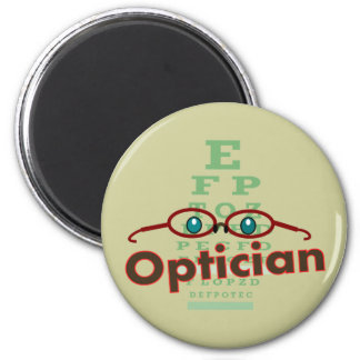Optician--Eye chart Gifts 2 Inch Round Magnet