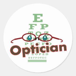Optician--Eye chart Gifts Classic Round Sticker
